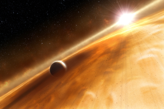 Artist's concept of exoplanet orbiting Fomalhaut Credit: ESA, NASA and L. Calçada (ESO); ESA/Hubble