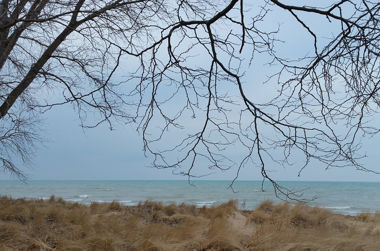 Grounding -- Lake Michigan from Gillson Park