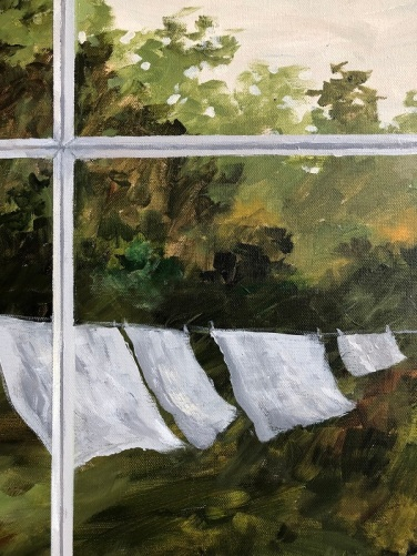 Detail of a painting by Doris Myers