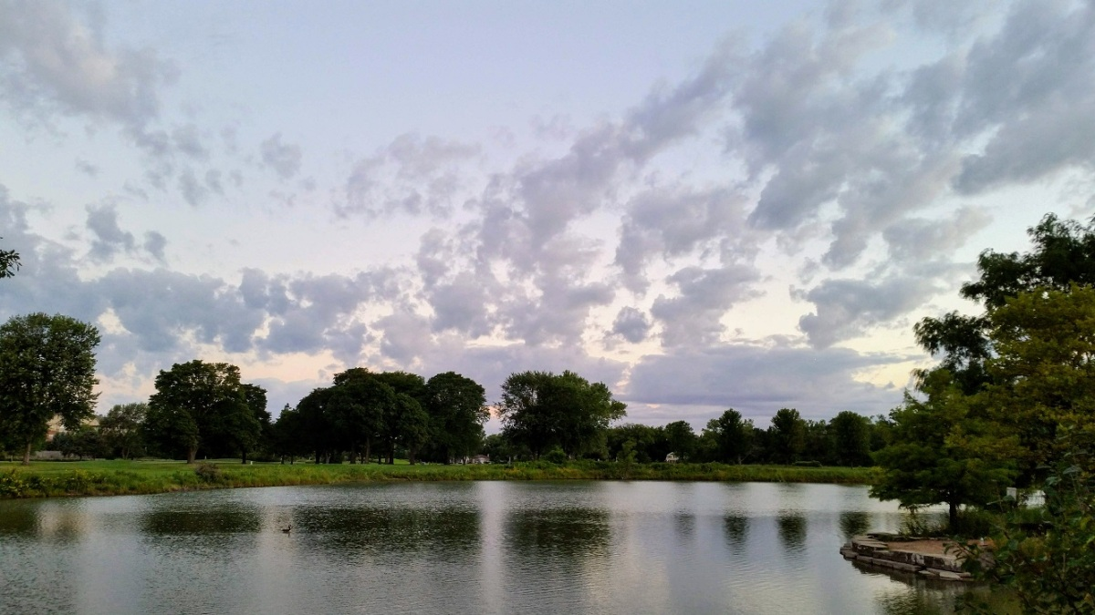 Morning Clouds and Pond