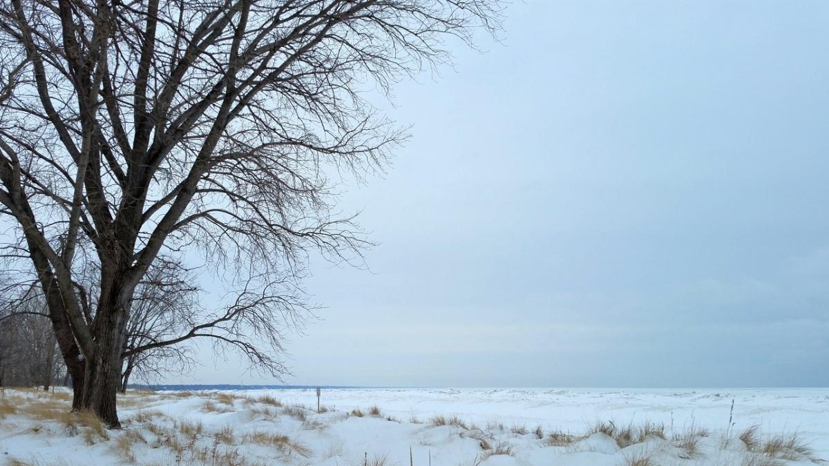 Lake Michigan in the Snow