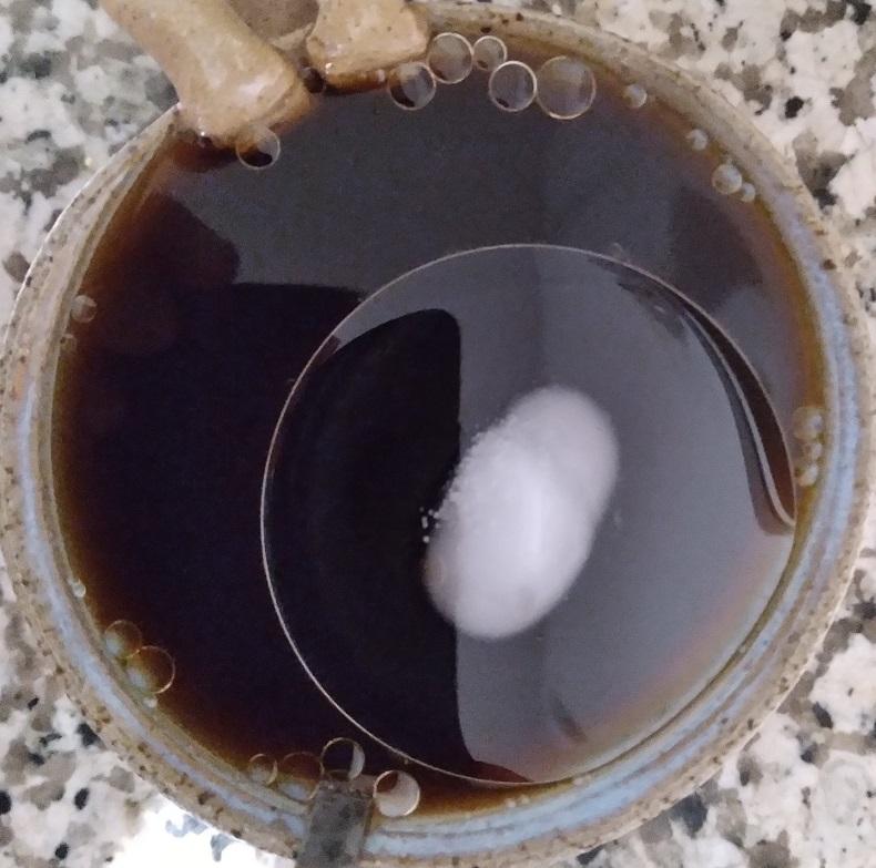 Coconut Oil in Hot Coffee