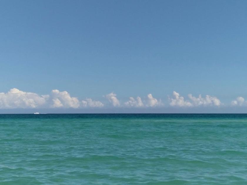 Atlantic Ocean, Clouds and Boat